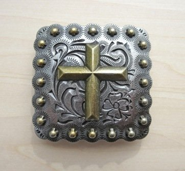 Concho ~ Square Berry with Cross ~ TL2547AS