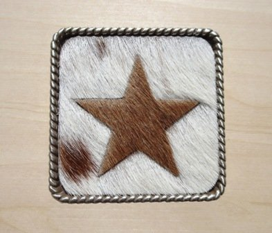 "Concho Cowhide Star 2 1/4"" ~ TL2112STHH"