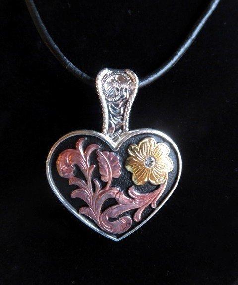 Heart or Texas Concho Necklace