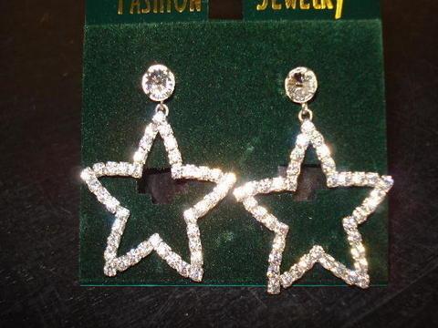 Rhinestone Star Dangle
