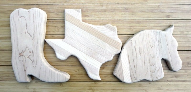 Boot Texas Horse Cheese Boards