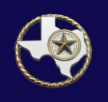 """Concho ~ Texas with Rope & Star 1 1/2"""" ~ R3026"""