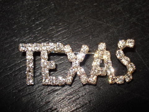 Rhinestone TEXAS Pin