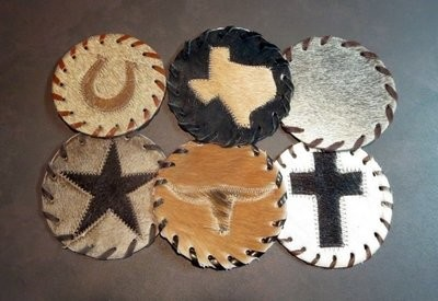 Cowhide Coasters - Western Designs