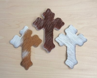 Cowhide Crosses ~ Set of 3