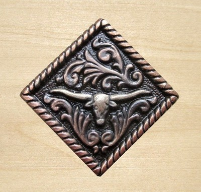 Concho Diamond Longhorn Copper 1 1/4