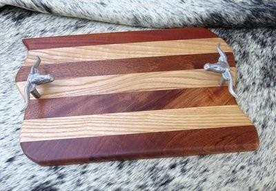 Wood Steer Tray ~ JO15006