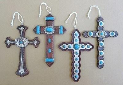 Cross Ornaments ~ Set of 4 ~ RB71285