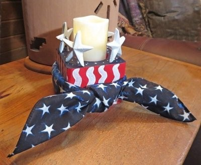 Candle Holder for July 4th