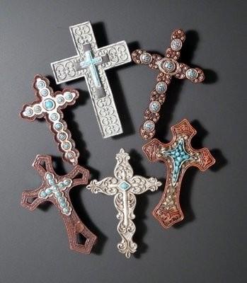Cross Magnets ~ Set of 6 ~ RB71244