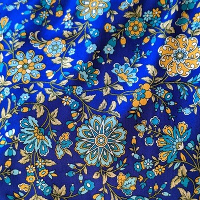 Blue Floral PJ Bottoms (S/M/L)