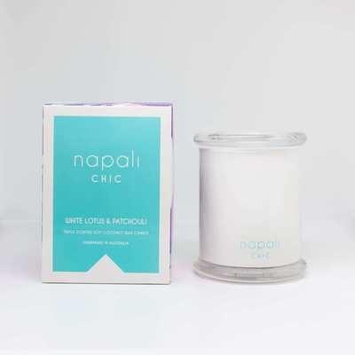 Napali Chic Candle 300g (White Lotus & Patchouli)