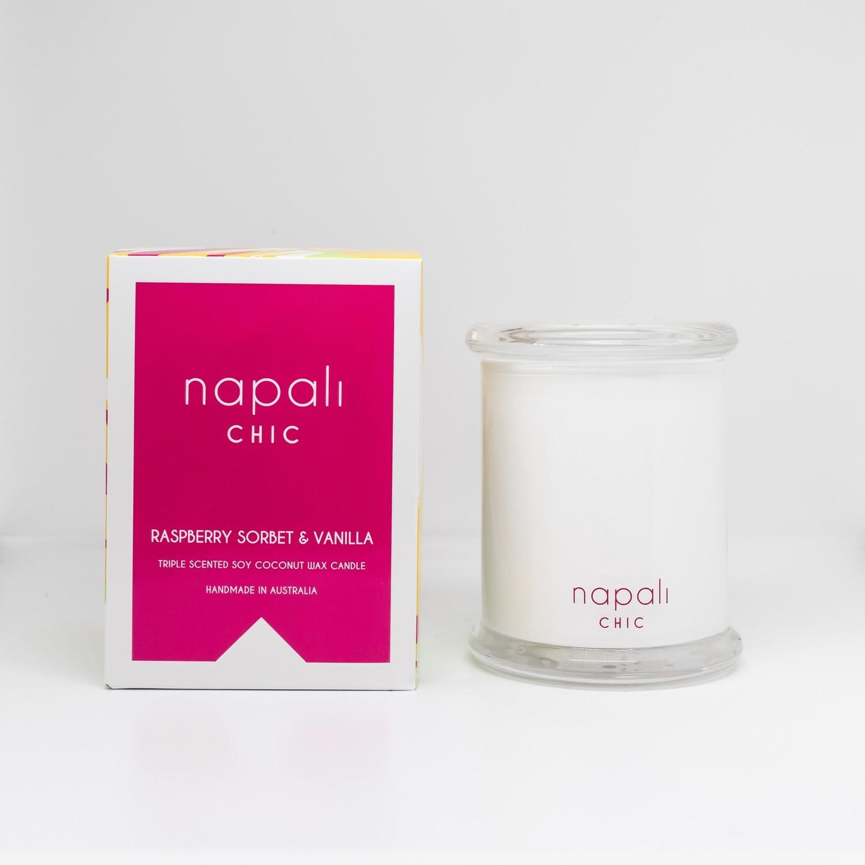 "Napali Chic Candle 300g (Raspberry Sorbet & Vanilla)"""