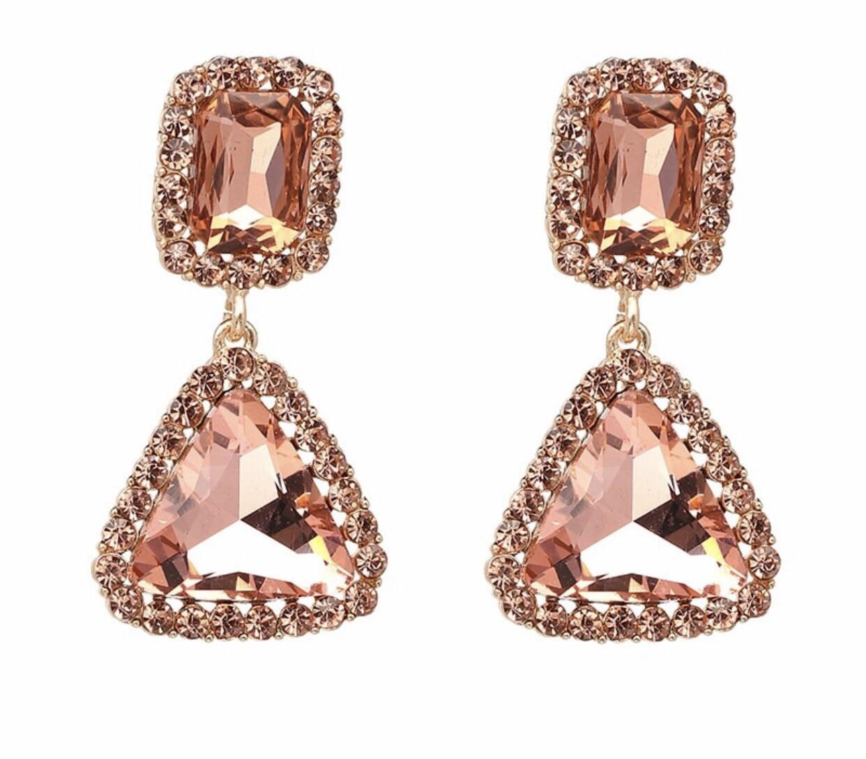 Rose Gem Earrings