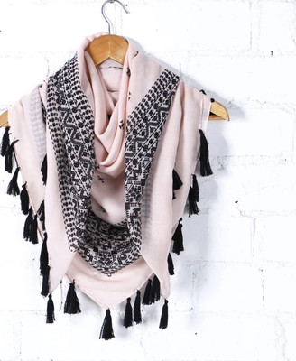 Pink And Black Scarfe