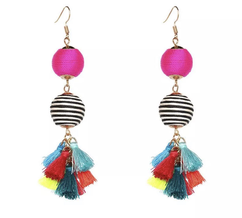 Pom Pom Ball earrings