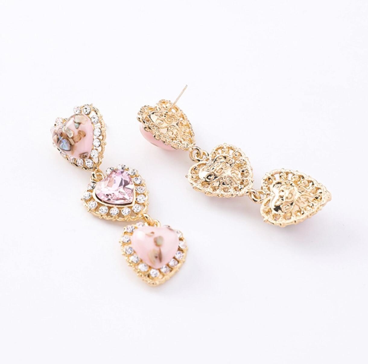 Misty Heart Earrings