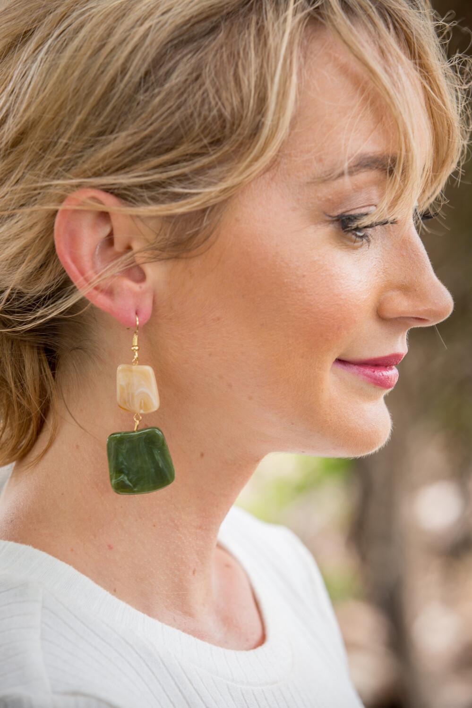 Ripple Resin earrings