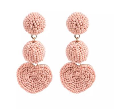 Morgan Beaded Heart Earrings