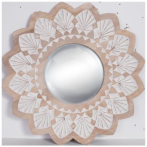 Wood Round Mirror convex Mirror