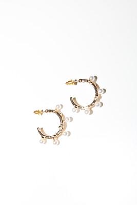 Mary Hoop Gold Earrings