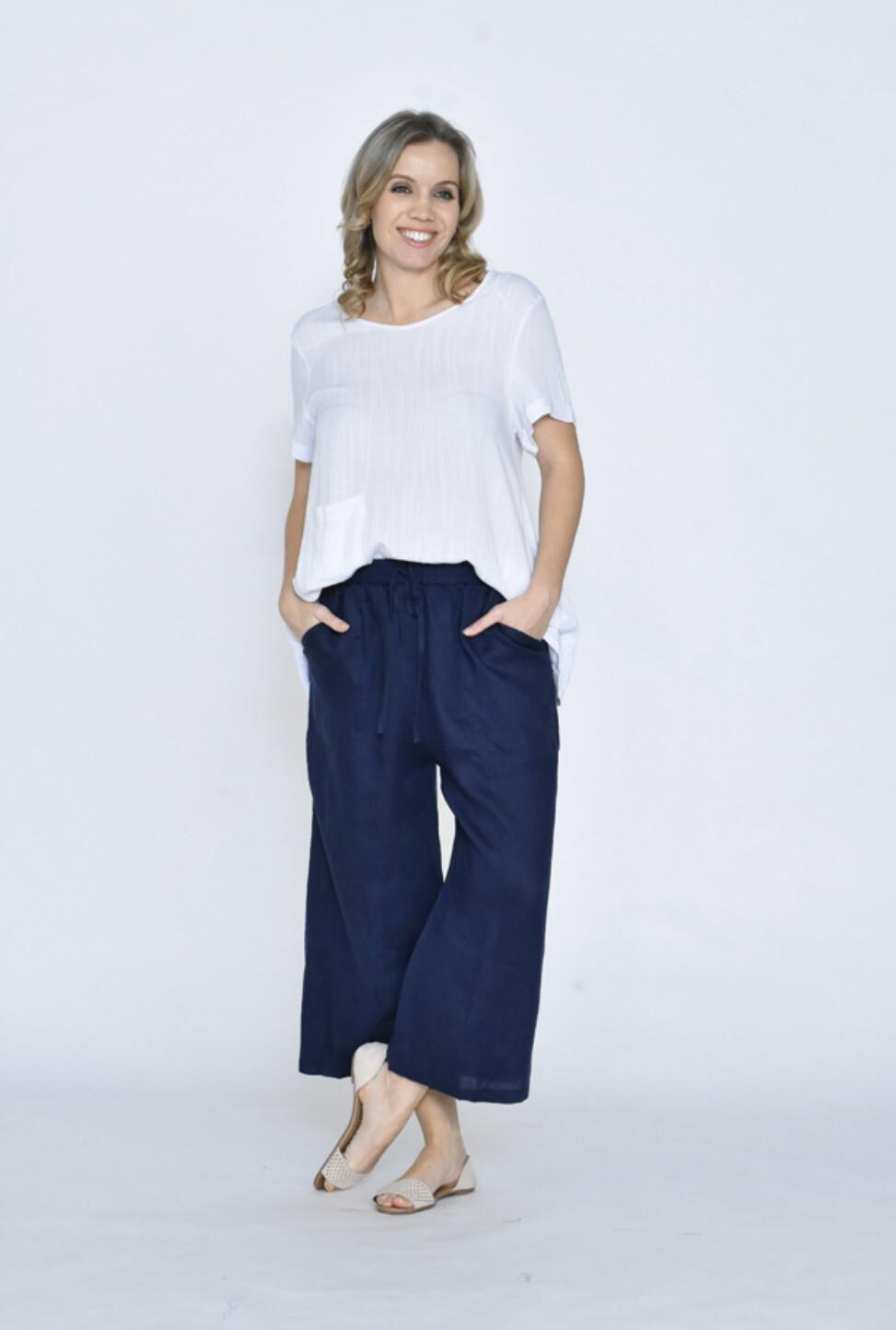 Linen Pants Navy