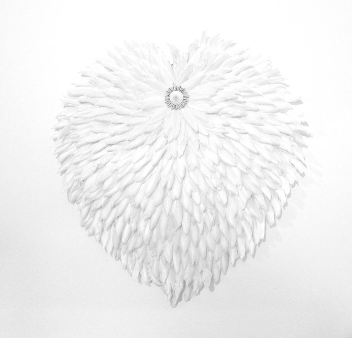 Heart White feather Juju