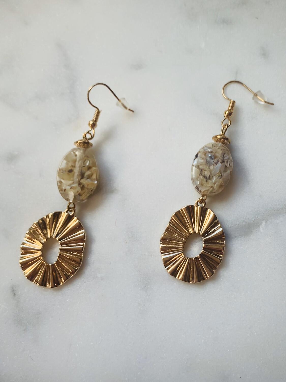 Golden Sun Ray Earrings