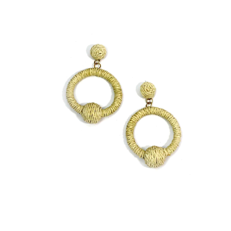 Lilly Rattan Hoop Earrings