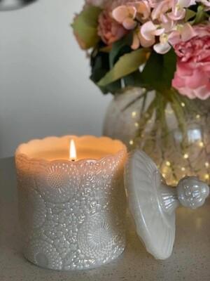 Grande Luxe Lace Glass vessel