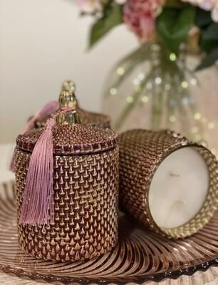 Gold Pink Vessel