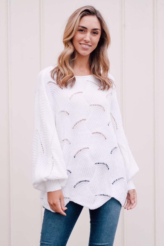 Stella Knit White