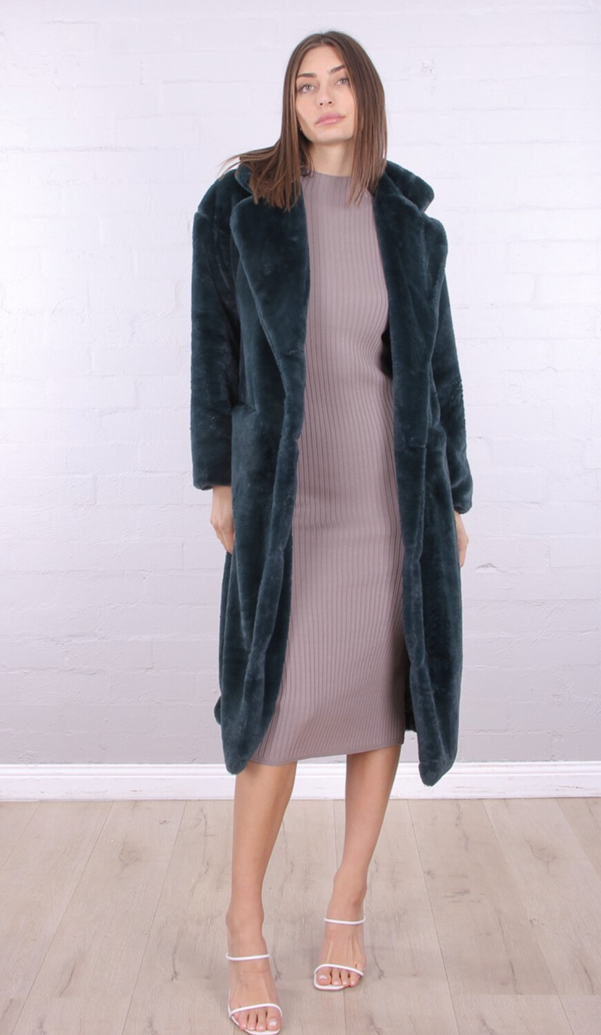 Erielle Long Coat Emerald