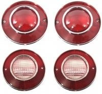 LENS ASSEMBLY-TAIL LAMP AND BACK UP LAMP-USA-4 PIECES-75-79 (#E12369)