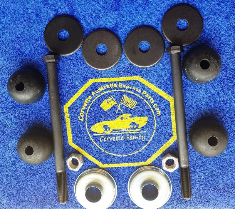 MOUNT KIT-REAR SPRING-RUBBER-EXTENDED BOLTS-2 INCHES LONGER (8