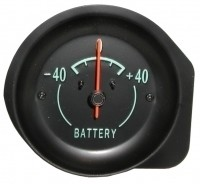 GAUGE-BATTERY-AMMETER-WITH GREEN FACE-68-71 (#E5834) 1F2