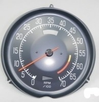 TACHOMETER-ASSEMBLY WITH 5300 RED LINE-L-48-75-77 (#E14707)