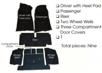 CARPET SET-AUTOMATIC-COUPE-LOOP 80-20-71-75(#E5931)