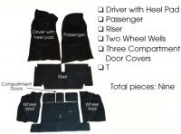 CARPET SET-COMPLETE-4 SPEED-80-20 LOOP-WITH PAD-70(#E5928)