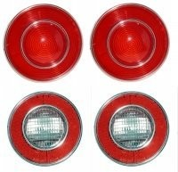 LENS ASSEMBLY-TAIL LAMP AND BACK UP LAMP-USA-4 PIECES-74 (#E12370) 4B1