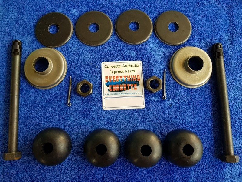 MOUNT KIT-REAR SPRING-16 PIECES-POLYURETHANE-ORIGINAL STYLE BOLTS-63-82 (#E18214) 2C4