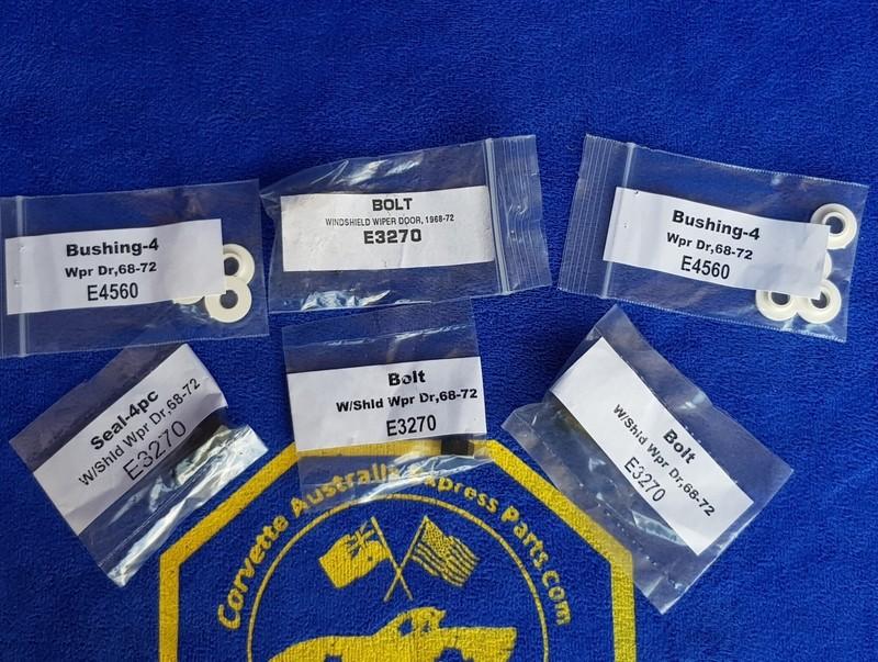REPAIR KIT-WINDSHIELD WIPER DOOR-12 PIECES-68-72(#E19217) 2C52
