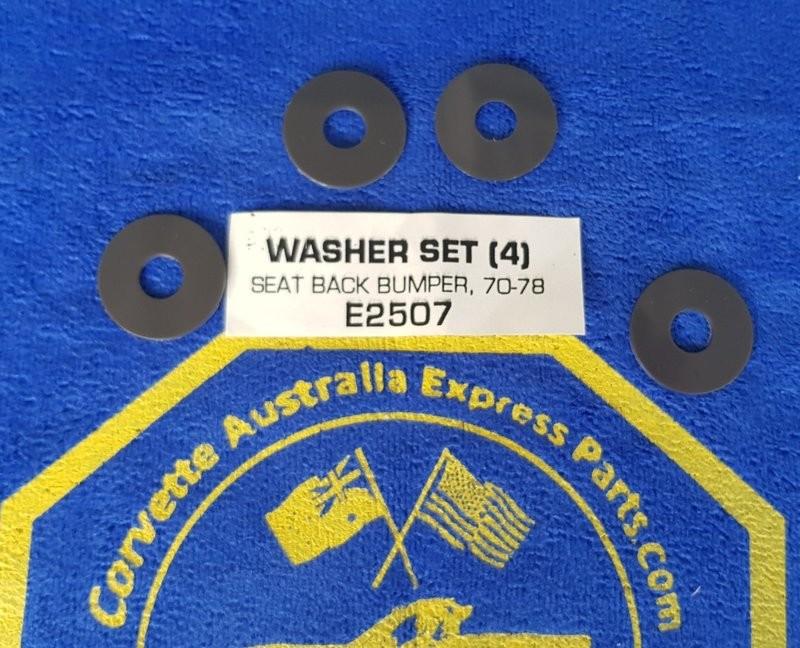 WASHER SET-SEAT BACK BUMPER-4 PIECES-70-78 (#E2507) 5A4