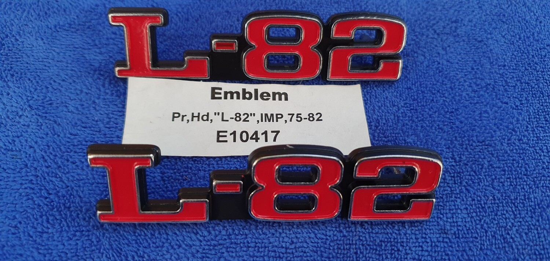 EMBLEM SET-HOOD-L-82-IMPORT-PAIR-75-82 (#E10417)