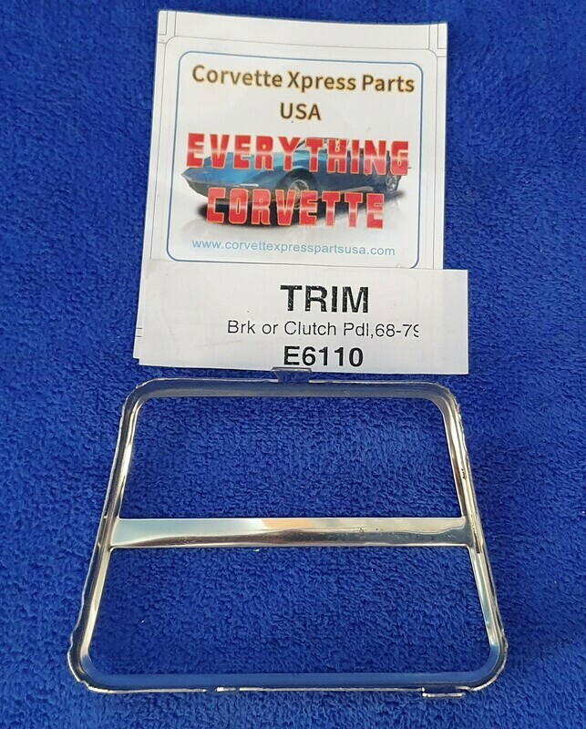 TRIM-BRAKE OR CLUTCH PEDAL PAD-STAINLESS STEEL-EACH-68-79 (#E6110) 3A42