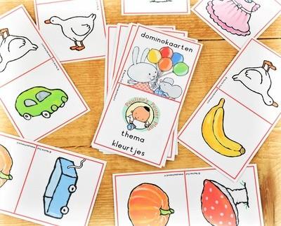 Domino spel Thema Kleurtjes