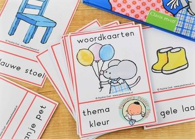 Woord-kaarten Thema Kleurtjes