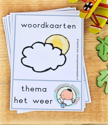 Woord-kaarten Thema het Weer
