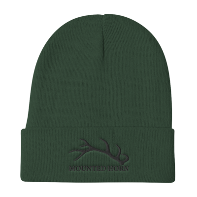 Elk Antler Embroidered Beanie