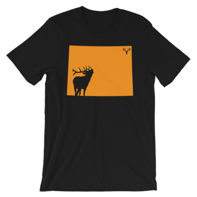 Wyoming State Elk Short-Sleeve Unisex T-Shirt